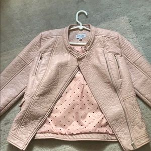Other - Coffe Shop Kids pink  leather jacket